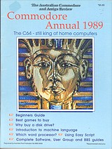 ACAR Commodore Annual 1989 front cover