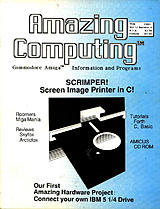 Amazing Computing Vol 1 No 4 (May 1986) front cover