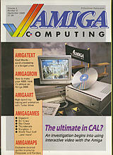 Amiga Computing Vol 1 No 4 (Sep 1988) front cover