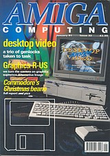 Amiga Computing 32 (Jan 1991) front cover