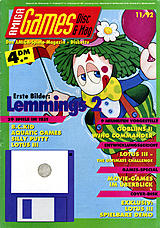 Amiga Games (Nov 1992) front cover