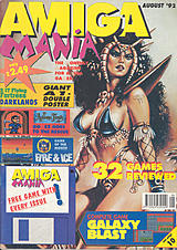 Amiga Mania (Aug 1992) front cover