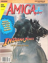 Antic's Amiga Plus Vol 1 No 3 (Aug - Sep 1989) front cover