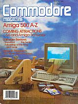 Commodore Magazine Vol 8 No 11 (Nov 1987) front cover
