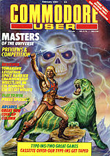 Commodore User (Feb 1987) front cover