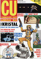 CU Commodore User Amiga-64 (Mar 1989) front cover