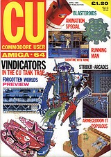 CU Commodore User Amiga-64 (Apr 1989) front cover