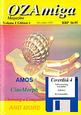 OZ Amiga Vol 1 No 4 (Dec 1992) front cover