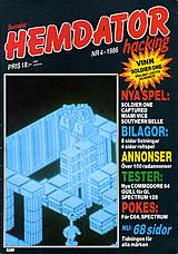 Svenska Hemdatornytt Vol 1986 No 4 (Sep 1986) front cover