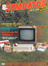 Svenska Hemdatornytt Vol 1989 No 6 (Sep 1989) front cover