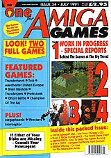 The One for Amiga Games 34 (Jul 1991) front cover