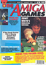 The One for Amiga Games 35 (Aug 1991) front cover