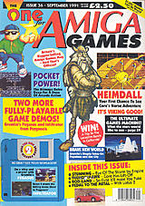 The One for Amiga Games 36 (Sep 1991) front cover