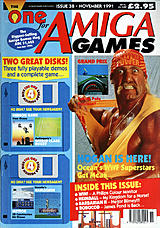 The One for Amiga Games 38 (Nov 1991) front cover