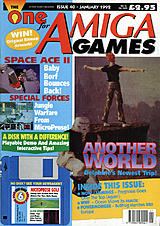 The One for Amiga Games 40 (Jan 1992) front cover
