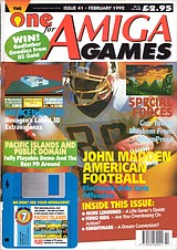 The One for Amiga Games 41 (Feb 1992) front cover