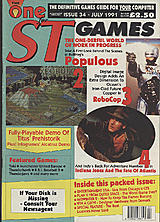 The One for ST Games 34 (Jul 1991) front cover