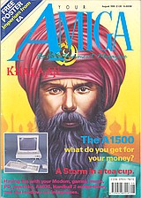 Your Amiga (Aug 1990) front cover